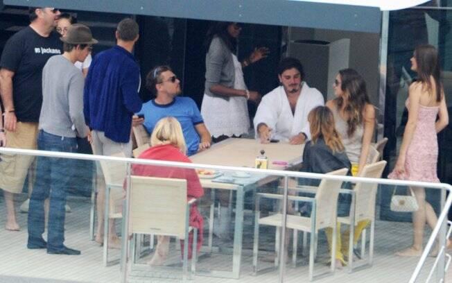 Naomi Campbell e Leonardo DiCaprio na Itália