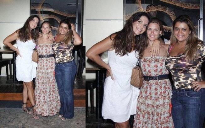 Ivete Sangalo jantou com Carol Dieckmann e Preta Gil após o show