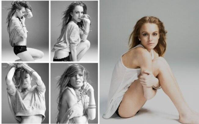Lindsay Lohan clicada pelo fotógrafo Mike Rosenthal