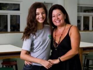 Daisy com a filha, Gabriela: