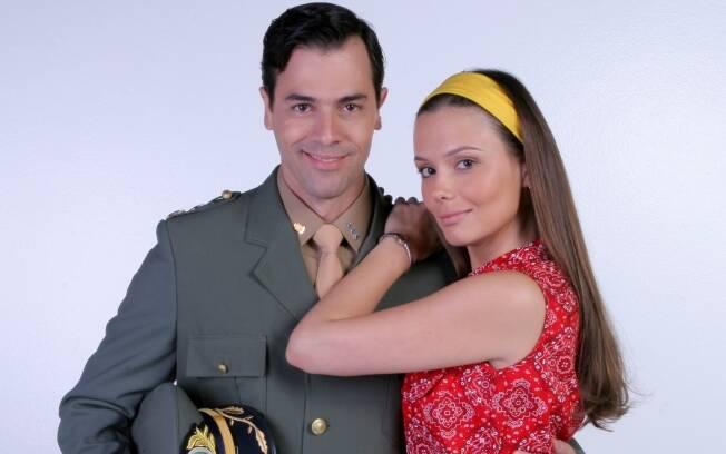 Graziella Schmitt como Maria Paixao e Claudio Lins como Jose Guerra, os protagonistas de