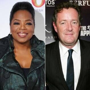 Oprah Winfrey e Piers Morgan