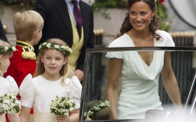 Pippa Middleton e uma das damas de honra, Margarita Armstrong-Jones