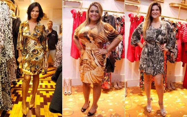 Os looks de Luiza Brunet, Preta Gil e Cristiana Oliveira