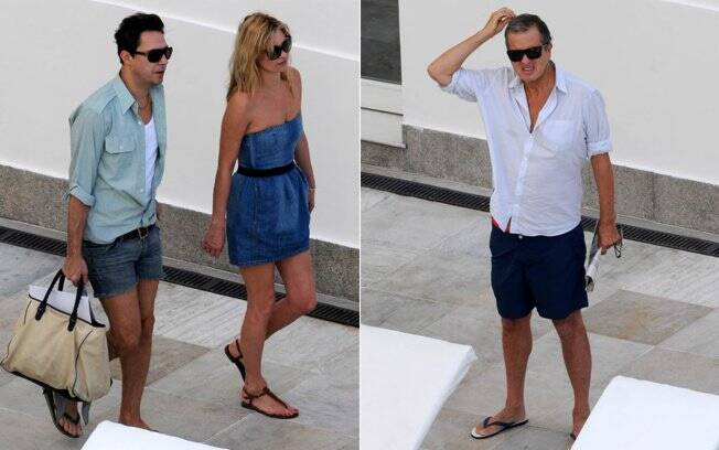 Kate Moss com o noivo e Mario Testino