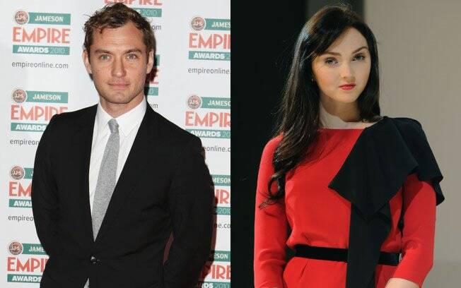 Jude Law e Lily Cole: não perdem tempo