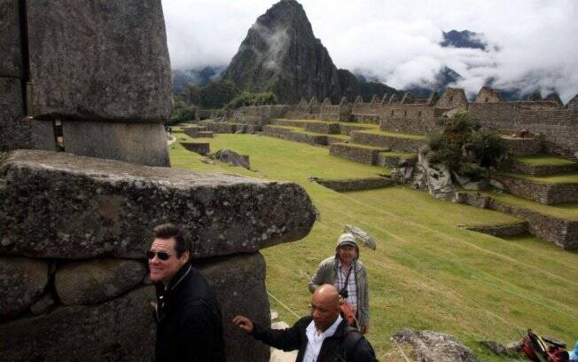 Jim Carrey visita o Machu Picchu