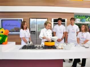 Ana Maria Braga e iniciantes na cozinha