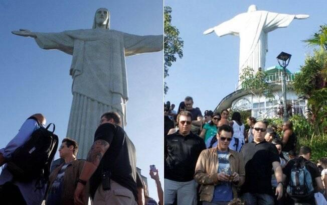 Jim Carrey e seus seguranças no Rio