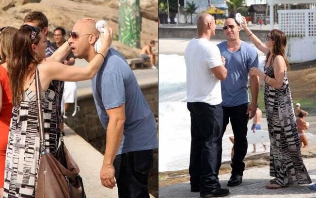 Vin Diesel suava tanto que precisou de uma assistente para secar a careca