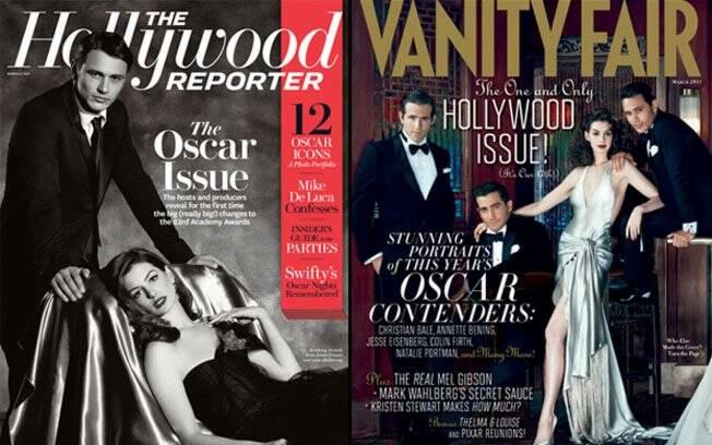 James Franco e Anne Hathaway juntos nas capas de duas das publicações mais respeitadas sobre cultura,
