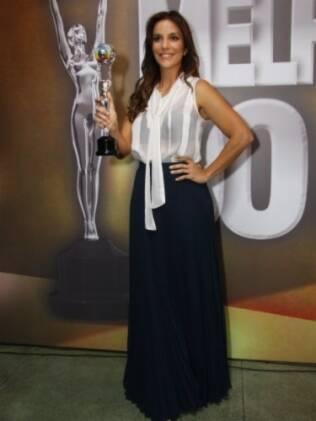 Ivete Sangalo durante a premiação Os Melhores do Ano, do Domingão do Faustão