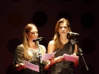 Heloisa Perissé e Ingrid Guimarães durante o espetáculo