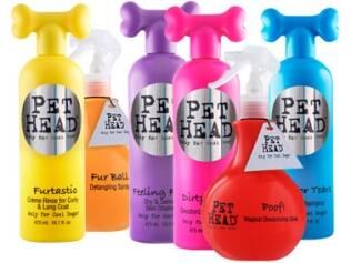 """Produtos """"Pet Head"""": coloridos e parecidos com os tubos de produtos """"Bed Head"""""""
