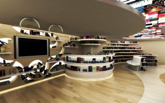 A arquiteta Sabrine Santos é responsábel pela Bookstore, um dos 110 ambientes da Casa Cor 2011