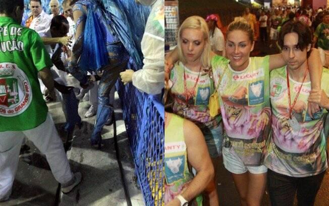 71b682e20a1ca Ana Hickmann leva tombo na avenida - Rio de Janeiro - iG