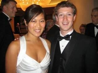 Mark Zuckerberg e a namorada Priscila Chan