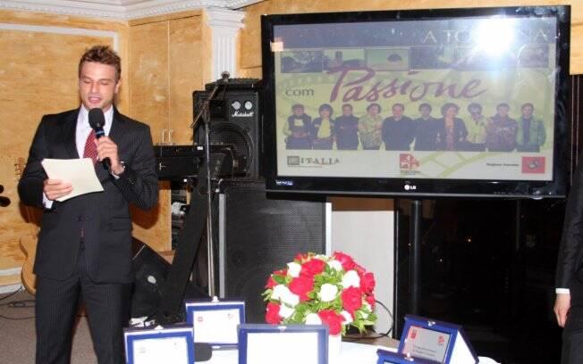 Vídeo exibido durante o evento mostrou imagens da região da Toscana