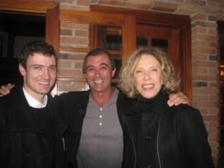 O advogado Lauro Vidal, Paulo Barros e Marília Gabriela