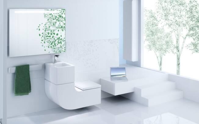 Nova peça W W integra lavatório e a bacia sanitária
