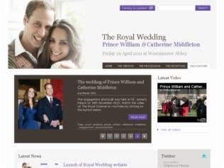 William e Kate: página oficial sobre o casamento