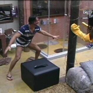 Rodrigo brincou com Jaque