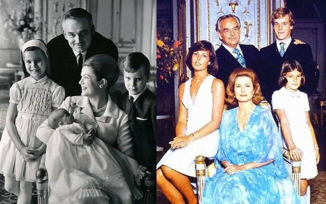 Grace Kelly e a família