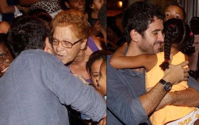 Simpático, Eriberto Leão abraçou e distribuiu beijos