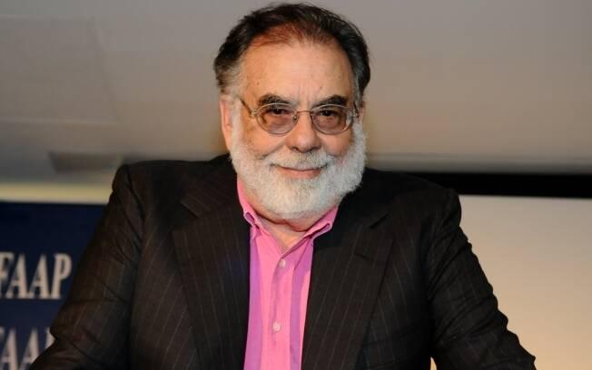 Francis Ford Coppola em coletiva de imprensa em São Paulo no início do ano