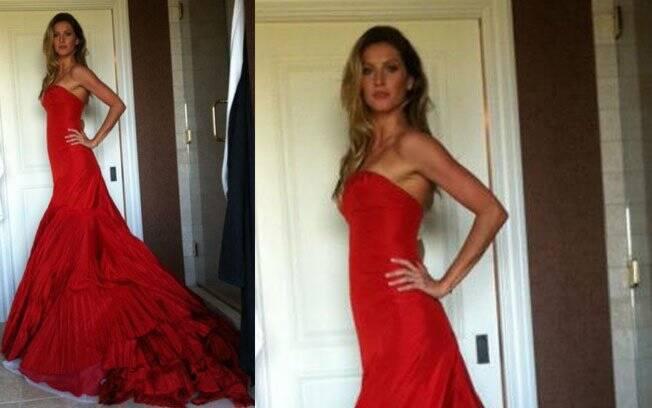 Gisele Bündchen escolheu vestido de Alexander McQueen para o baile do Met Ball