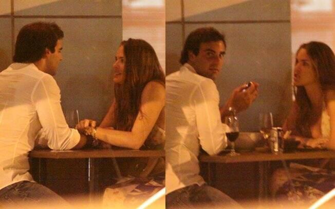 O casal curtiu a noite carioca em clima de romance