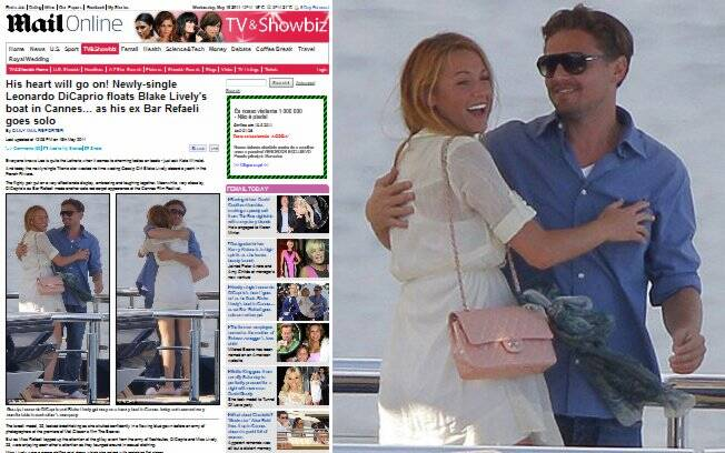 Leonardo DiCaprio e Blake Lively passeando em Cannes