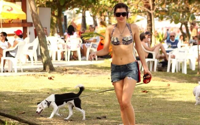 Ellen Jabour com Pluft na Barra da Tijuca
