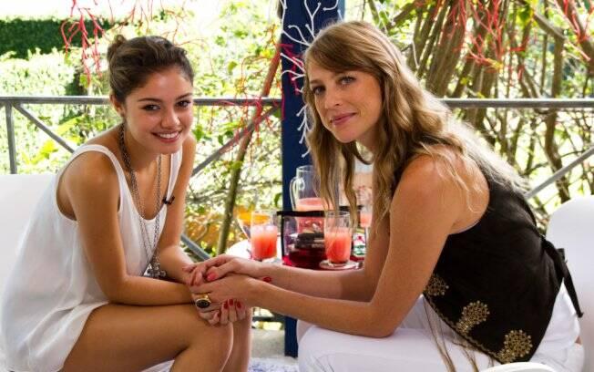 Sophie Charlotte e Luana Piovani durante a gravação para o Superbonita