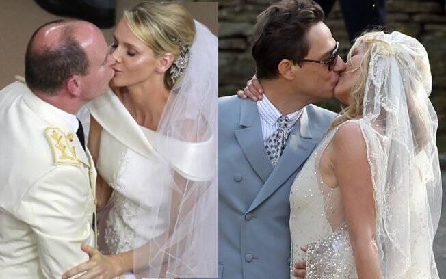 Príncipe Albert II e sua esposa Charlene Wittstock - Jamie Hince e a top model britânica Kate Moss