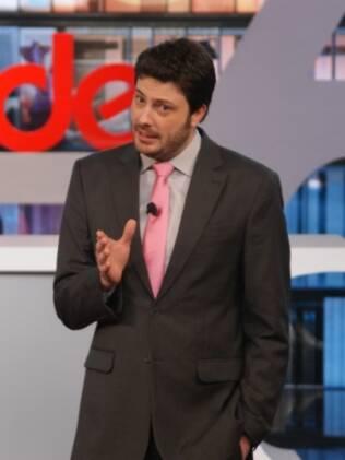 Danilo Gentili em ação no