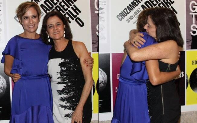 Marieta Severo e Andráa Beltrão: abraço amigo