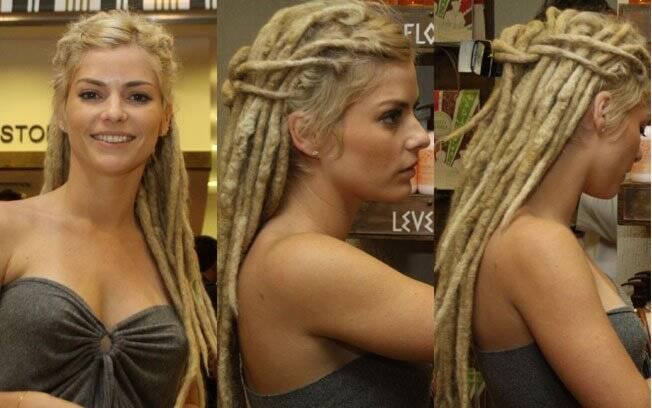 Os dreadlocks de Ana Paula Tabalipa: atriz usou o visual por mais de um ano
