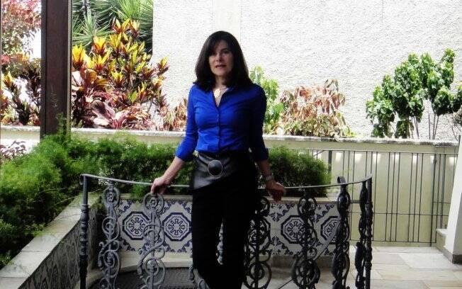 Mayana Zatz no terraço de sua casa em São Paulo