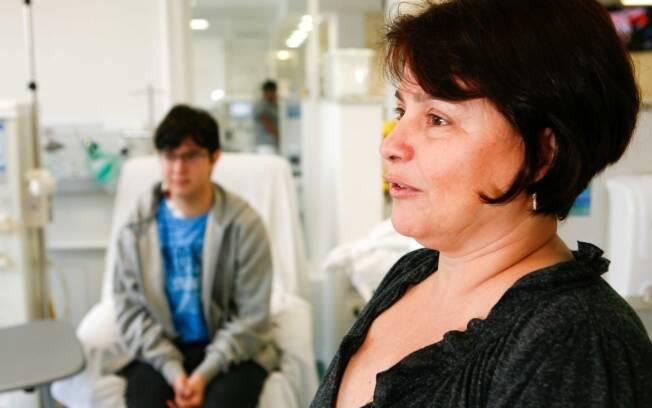 Matildes deixou o marido e o filho caçula em Brasília, para acompanhar o mais velho que faz diálise em São Paulo