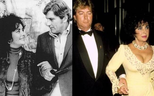 Os últimos casamentos da diva: o político republicano John Warner e o caminhoneiro Larry Fortensky
