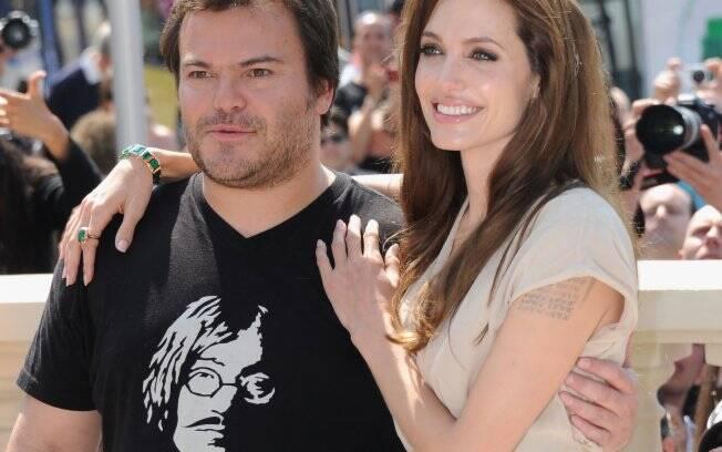 Angelina e Jack Black em Cannes
