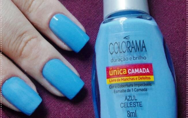 Azul Celeste, esmalte de camada única da Colorama