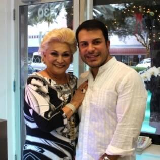 Hebe Camargo e Cleber Lopes