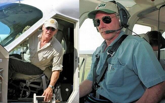Harrison Ford: para quê carro se você tem um helicóptero?