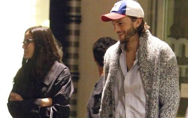 Demi Moore e Ashton Kuthcer: teatro sábado à noite