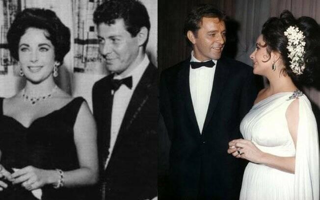Outros dois relacionamentos conturbados da atriz: Eddie Fisher e Richard Burton, com quem foi casada duas vezes