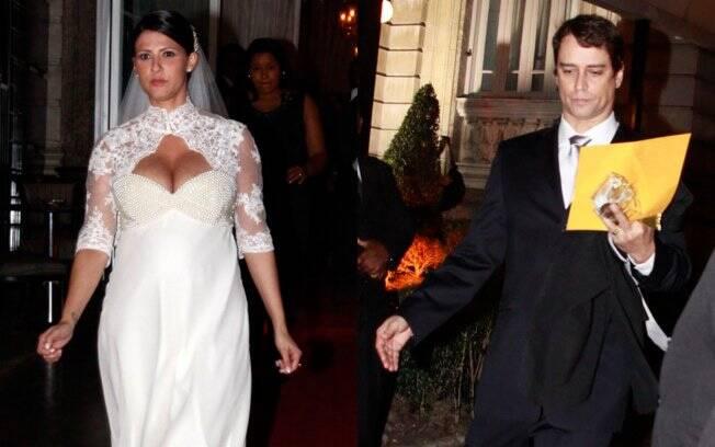 Carolina Villar e Marcello Antony após o casamento