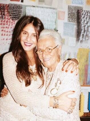 Rosita Missoni e a neta Margherita, rosto e embaixadora da grife