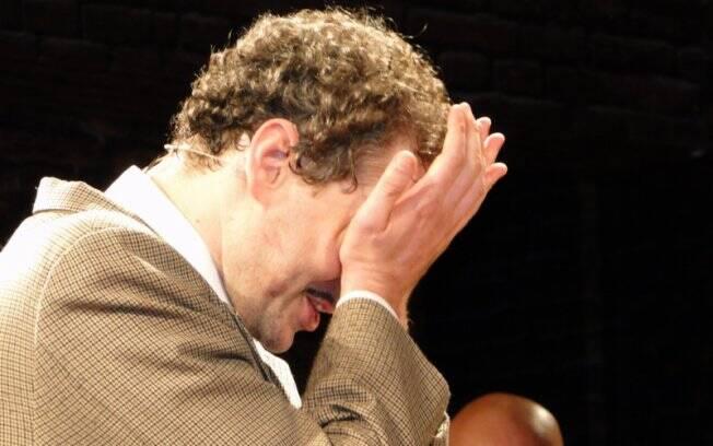 O ator Dan Stulbach emocionado na última sessão de